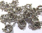 11mm 100pcs nautical spring ring brass clasp silver gold antique black mixed  jewelry finding