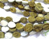 wholesale 10x14mm 20pcs  Calibrated Druzy quartz teadrop drop peach  golden gold assortment  jewelry  charm bead