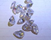 9x14mm 100pcs cubic zirconia gemstone teadrop drop  faceted assortment  jewelry beads cabochons