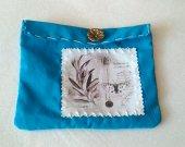 Turquoise vintage cotton bag