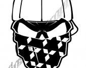 "Decal Skull Bandana Custom Mitsubishi 8"""