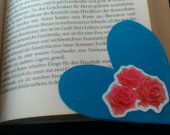 2 roses sticker bookmarks