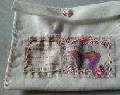 White Vintage Chocolaterie- Confiserie feltbag