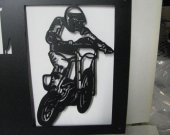 Motorcycle 009 Metal Wall Art Silhouette