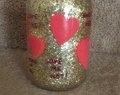 Heart Valentine Mason Jar Candle
