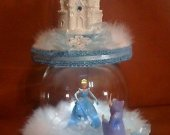 cinderella castle light cake topper   in blue and any color