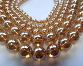 high quality Bulk champagne quartz beads, 6-10mm 3strands 16inch strand,round ball crystal gergous jewelry beads