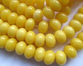 wholesale 2strands 5x8-12x16mm jade stone rondelle abacus smooth  yellow lemon green beads