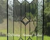 Stained Glass Panel - Clear with Clear Bevels