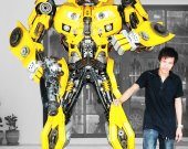 2.20 Meter(7.2ft) high Metal art sculpture Robot - Bumblebee - Scrap metal art Movie inspired From Transformer