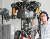 2.20 Metre(7.2ft) Metal art sculpture Robot - Movie inspired - terminator