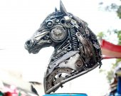 26 inch Metal sculpture Horse head - unique metal art decor - home decor