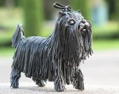 Metal sculpture - Dog - Shih su - unique metal art decor - home decor