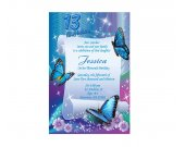 Butterfly sweet sixteen Birthday Party Invitation