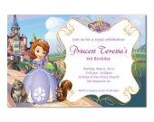 Sofia the first birthday invitation cards - digital file