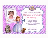 Printable file - Sofia the first personalized birthday invitations
