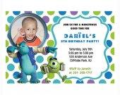 Monsters University birthday invitations personalized custom PRINTABLE
