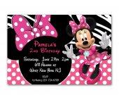 Disney Minnie Mouse Birthday invitation