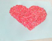Confettipicture Red Heart