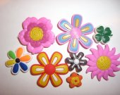 8 Flowers Button Shoe Charms for Jibbitz bracelets or Crocs shoes