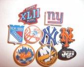 9 New York Sports Fan Button Shoe Charms for Jibbitz bracelets or Crocs shoes