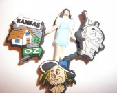 4 The Wizard of Oz Button Shoe Charms for Jibbitz bracelets or Crocs shoes