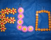 One Wall Hanging Flower Shoe Charm Wire Letter F