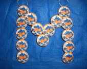 One Wall Hanging Mets Shoe Charms Wire Letter M