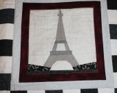 Eiffel Tower, Paris, Quilted Wall Hanging