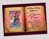Ariel Little Mermaid - Disney Princess Birthday Party Invitation - DIGITAL FILE - card 4