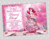 Ariel Little Mermaid - Disney Princess Birthday Party Invitation - DIGITAL FILE - card 1