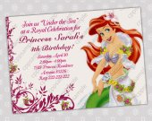 Ariel Mermaid - Disney Princess Birthday Party Invitation - DIGITAL FILE - card 2