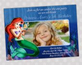 Ariel Little Mermaid - Disney Princess Birthday Party Invitation - DIGITAL FILE - card 8