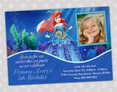 Ariel Little Mermaid - Disney Princess Birthday Party Invitation - DIGITAL FILE - card 9