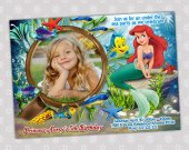 Ariel Little Mermaid - Disney Princess Birthday Party Invitation - DIGITAL FILE - card 10