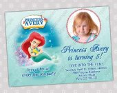 Ariel Little Mermaid - Disney Princess Birthday Party Invitation - DIGITAL FILE - card 11