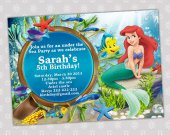 Ariel Little Mermaid - Disney Princess Birthday Party Invitation - DIGITAL FILE - card 12