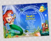 Ariel Little Mermaid - Disney Princess Birthday Party Invitation - DIGITAL FILE - card 13
