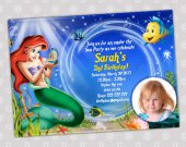 Ariel Little Mermaid - Disney Princess Birthday Party Invitation - DIGITAL FILE - card 14