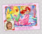 Ariel Little Mermaid - Disney Princess Birthday Party Invitation - DIGITAL FILE - card 15
