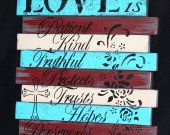 Love isrustic wooden sign