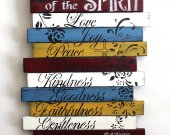 Fruit of the Spirit, rustic, wooden sign