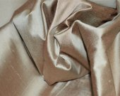 Prismatic Antique Gold Dupioni Silk Fabric with beautiful sheen and reflection fabric by Yard