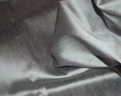 Pewter Grey Poly Silk Blend, Semi Dupioni, Dupioni Silk Blend Fabric by Yard