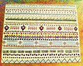 Colorful Tribal Canvas Drawing