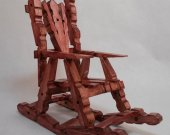 Wooden Doll Furniture - Rocking Chair