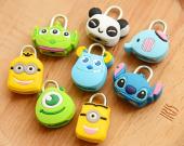 Kawaii Cartoon Animal Mini Padlock Travel Luggage Bag Lock,Cartoon Lock,Suitcase Padlock