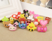 2 pieces cartoon dust earphone plug
