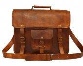 Handmade Shoulder Genuine Real Leather Bags Messenger Air Plane Cabin Bag Briefcase Handbag Satchel Shoulder iPad