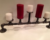 Industrial pipe 5 candle holder
